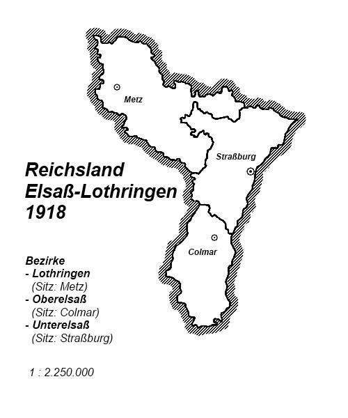Lothringen Karte.Karte Reichsland Elsass Lothringen 1918