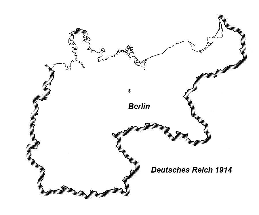 Karte Deutsches Reich 1914.Karte Deutsches Reich 1914